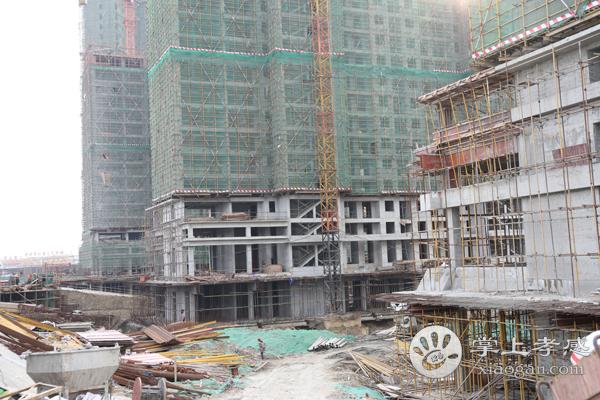 孝感全洲天悦3月进度:G1/G2#楼已建一半