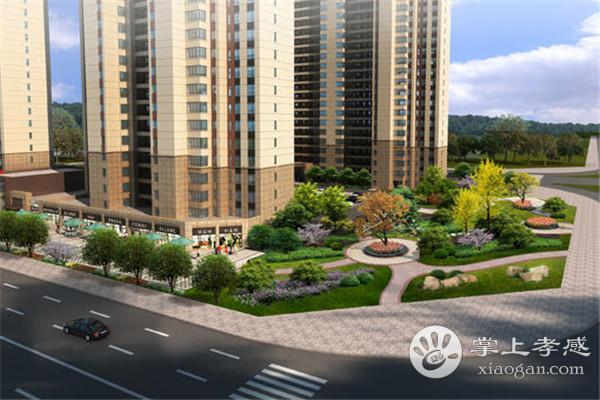 孝感碧桂园中央公园3月最新工程进度:1#、2#外墙施工中
