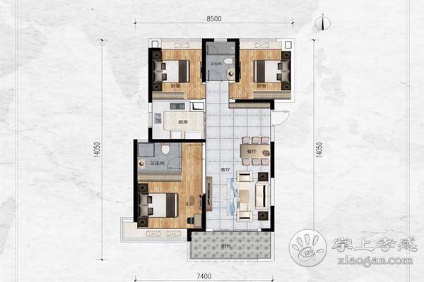 孝高附近 状元楼 七楼 精装修送家具家电 3室2厅1卫 122.5平米 证满税低 39万