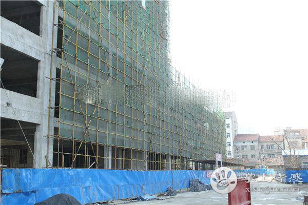 孝感东方丽都3月进度:3#楼已建至18层左右