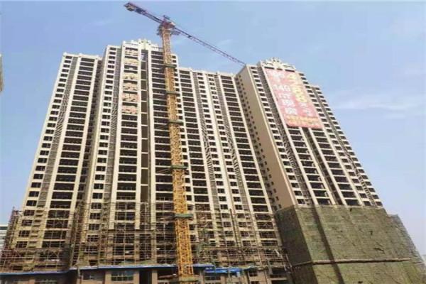 孝昌华耀·府东明珠二期3月最新工程进度:11#楼建至2层