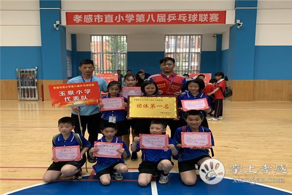 孝感市玉泉重点勇夺市直小学第八届乒乓球联赛天津小学小学区图片