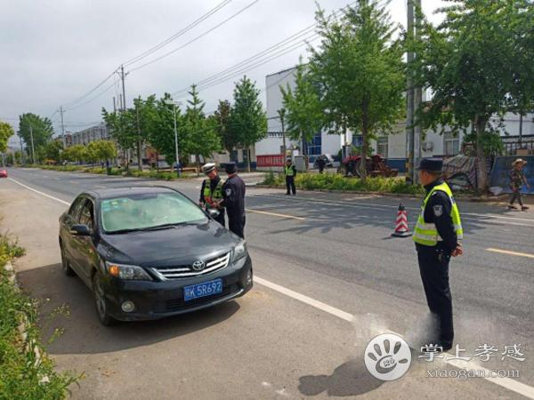 安陆市王义贞镇联合整治交通违法行为[图1]