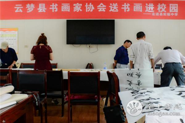 云梦县书画家协会开展送书画进校园活动[图1]