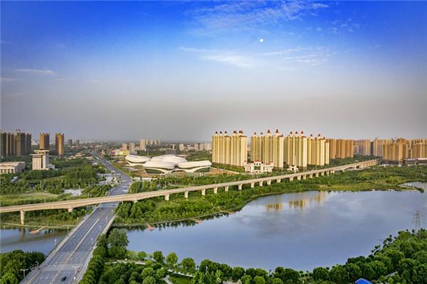 孝感市槐荫公园成为全省最大城中人工湿地公园