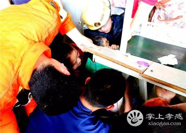 孝昌三岁男孩手卡进电子机器 危急时刻消防员紧急出动![图1]