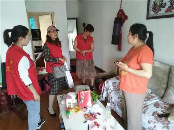 孝感市义工联母亲节 食品银行送菜活动