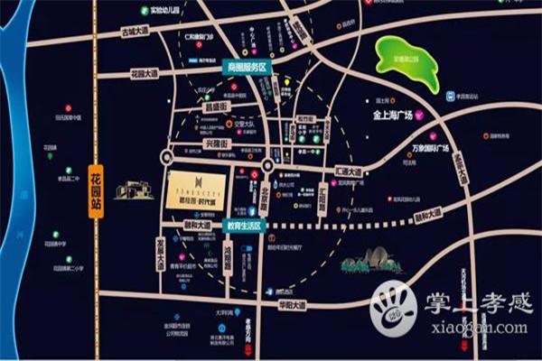 城市中央广场3室2厅1卫,96平方83万元