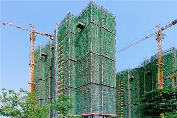 云梦全洲桃源6月最新工程进度:F2栋外墙真石漆完成50%、F3栋24层主体结构完工