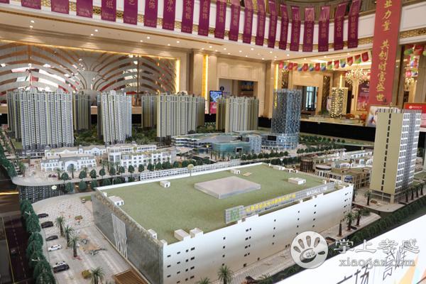 孝感城市中央广场誉峰7月份工程进度:25#封顶,26#楼建至22层