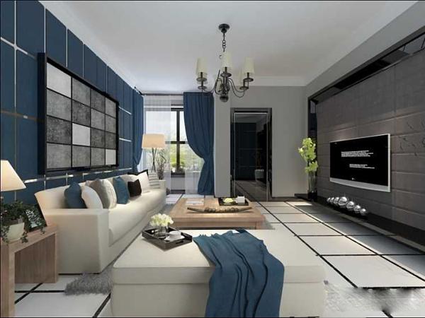 北辰花园105平精装房 两室两厅一卫 1300元/月