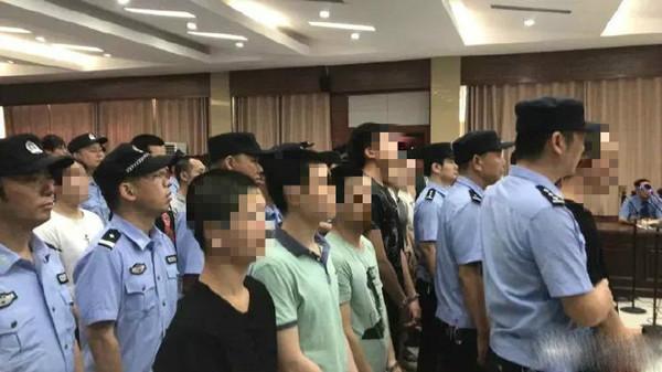 应城市人民法院现场庭审36名网络诈骗案件