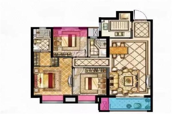 华安公寓162平精装房 办公首选 2800元/月