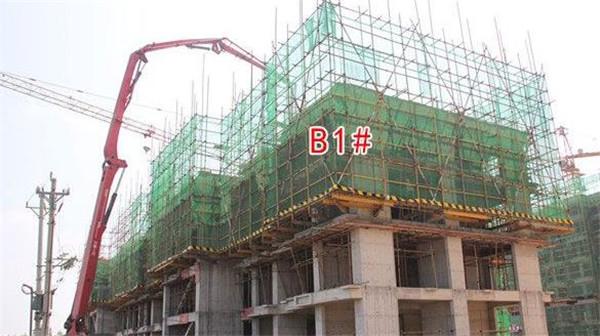 孝感剑桥·鑫天地8月进度:B1#楼已建至5层左右!