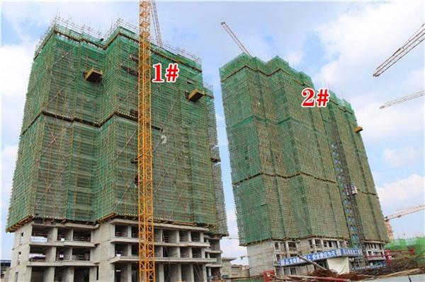 孝感力标·澴河壹号院9月工程进度:2#楼已建至15层!