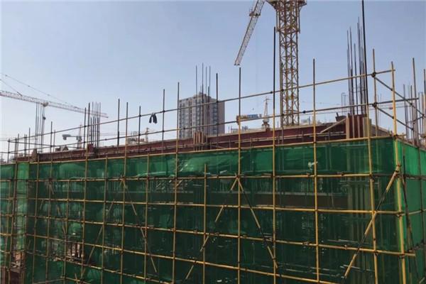 孝感润达壹号广场9月工程进度:国际星级酒店已建造11层、12号楼已建造到18层,生鲜市场已封顶