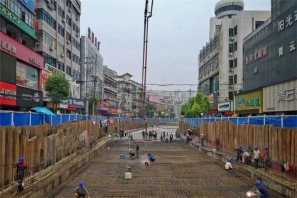 孝感城站路地下空间项目一期主体工程全部完工,下个月将迎来一期二阶段工程建设!