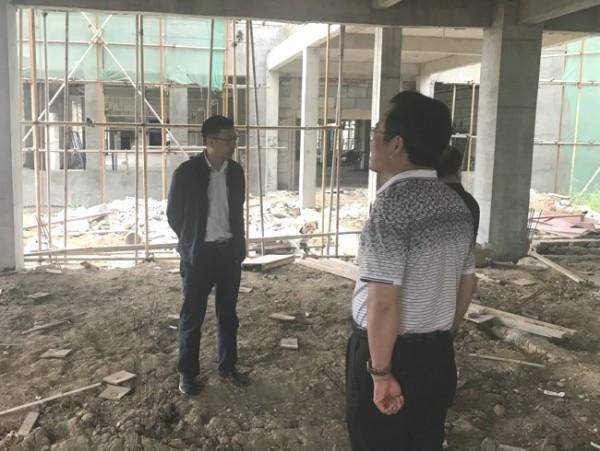 孝南区教育局领导督办远大学校建设项目