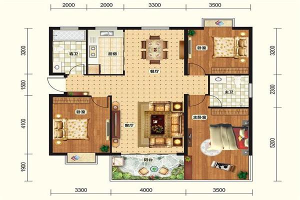 北辰花园 2室2厅1卫 60平米 23.8万元 精装修