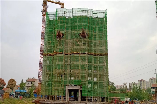 孝感金域国际10月最新工程进度:18号楼施工至11楼,19号楼施工至9楼
