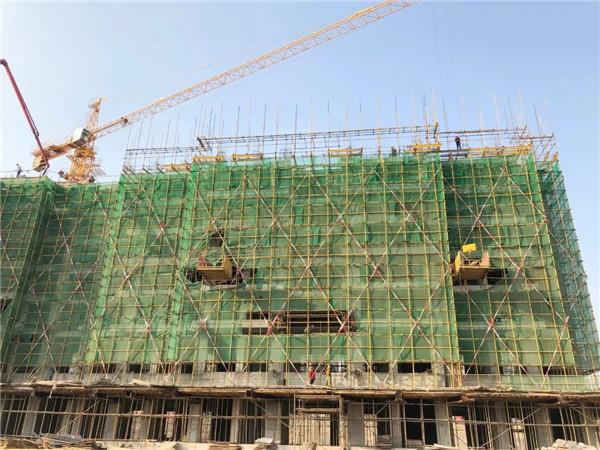 孝感鼎观世界11月工程进度:2号楼施工至7层