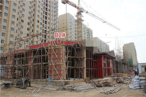 孝感博大·君悦湾11月进度:D2#楼正在施工中
