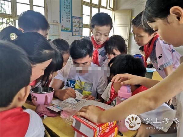 90后小伙从上海回到家乡!为安陆山区孩子过集体生日![图4]