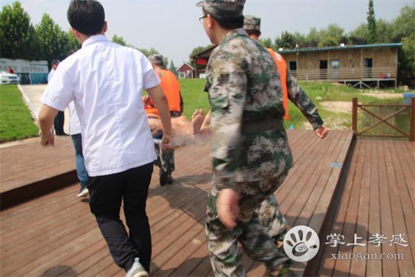 孝南区朱湖办事处组织开展水上应急演练[图1]