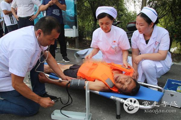 孝南区朱湖办事处组织开展水上应急演练[图3]