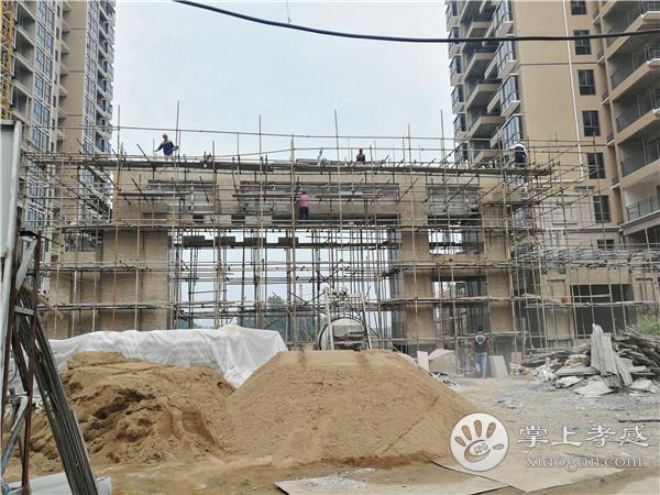 孝感港锦新城7月份工程进度:12#楼正在打地基[图3]