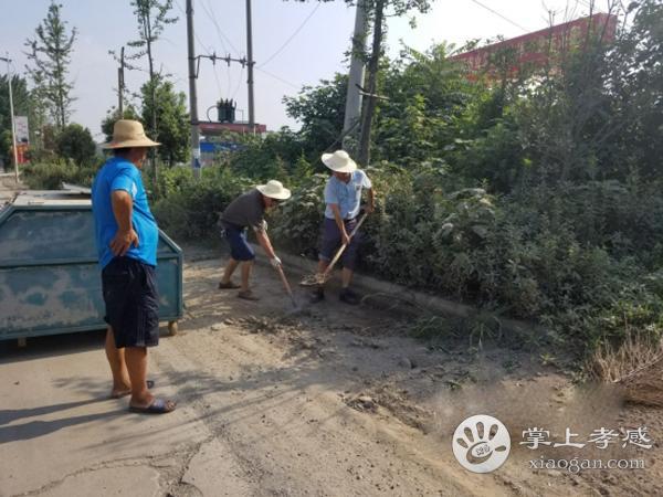 安陆接官乡机关部门组织志愿者开展清扫活动[图1]
