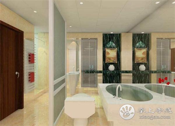 孝感新房卫生间对着客厅应该如何装修?卫生间正对客厅怎么装修好?[图1]