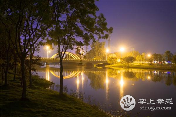 夜幕下的孝感澴川公园,这样的景色你见过吗?[图3]