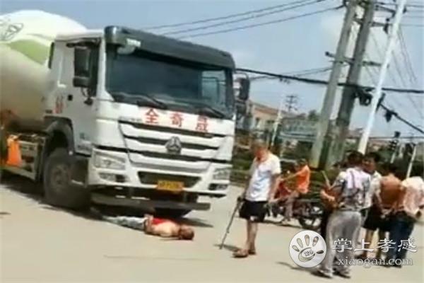 7月16日中午,汉川马口英山红路灯路口发生车祸![图1]