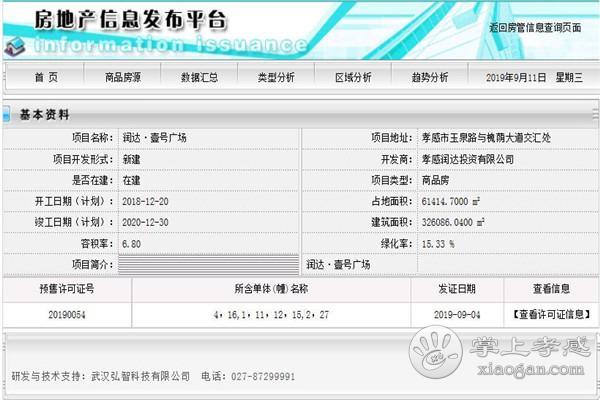 孝感润达壹号广场1#、2#、4#、11#、12#、15#、16#、27#预售许可证获批,可入手1701套房源![图1]