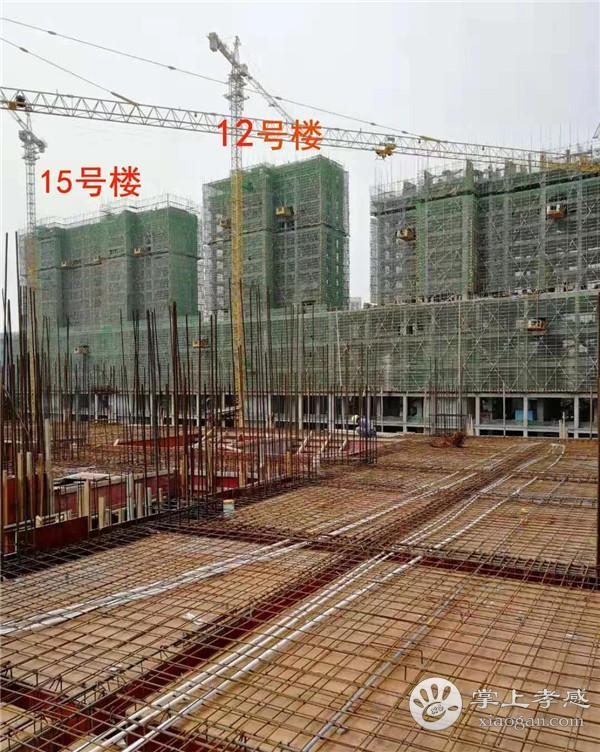 孝感润达壹号广场9月工程进度:国际星级酒店已建造11层、12号楼已建造到18层,生鲜市场已封顶[图2]