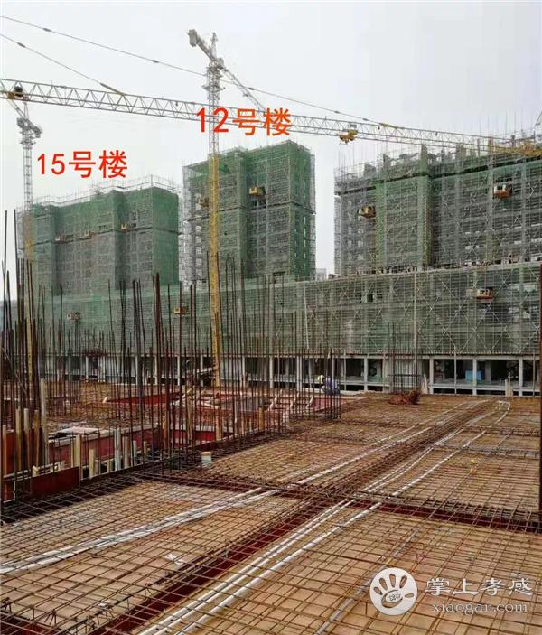 孝感润达壹号广场9月工程进度:国际星级酒店已建造11层、12号楼已建造到18层,生鲜市场已封顶[图3]
