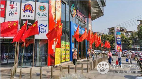 应城市街头被国旗鲜花扮靓,充满了浓浓的节日氛围[图2]
