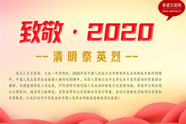 """2020年孝感市""""清明祭英烈""""活动开始啦!(附网上祭英烈入口和流程)"""