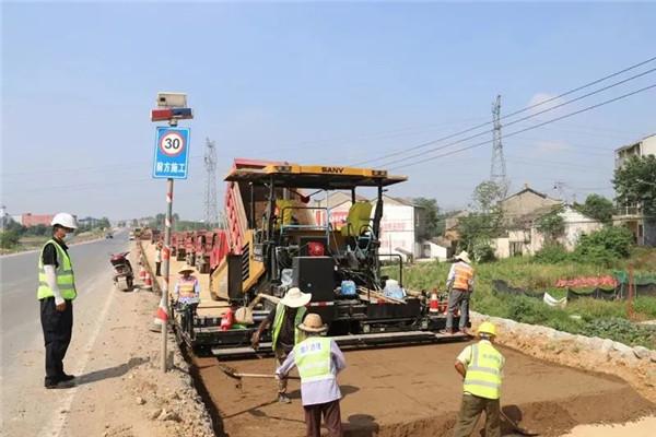 孝昌107国道改扩建项目施工忙,预计2020年10月底完工!