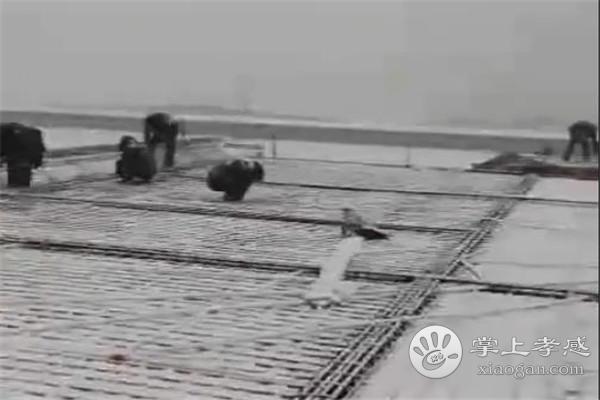 孝感市三汊镇统塑管业二期项目风雪无阻赶工期:2020年春节前封顶![图2]