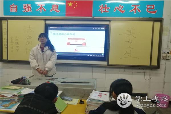 孝南区三汊镇中学开展宪法宣传教育活动[图4]